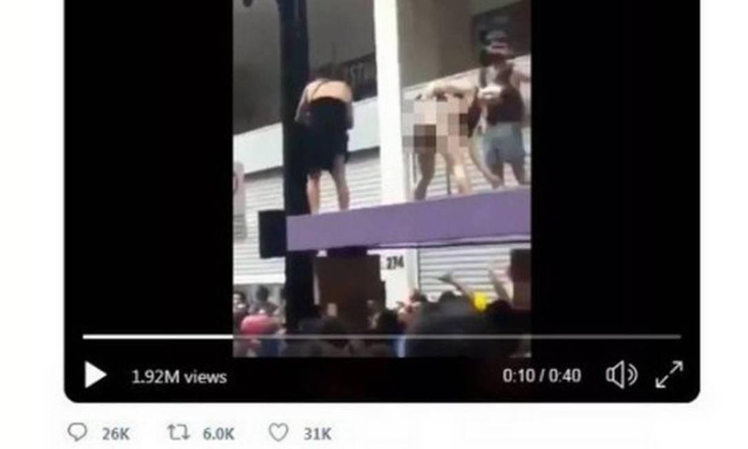 Vídeo compartilhado por Bolsonaro foi tachado de 'conteúdo sensível' pelo Twitter Foto: Reprodução / Twitter