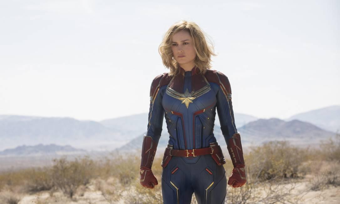 Brie Larson, vencedora do Oscar de melhor atriz por 'O quarto de Jack', é a Capitã Marvel Foto: Divulgação