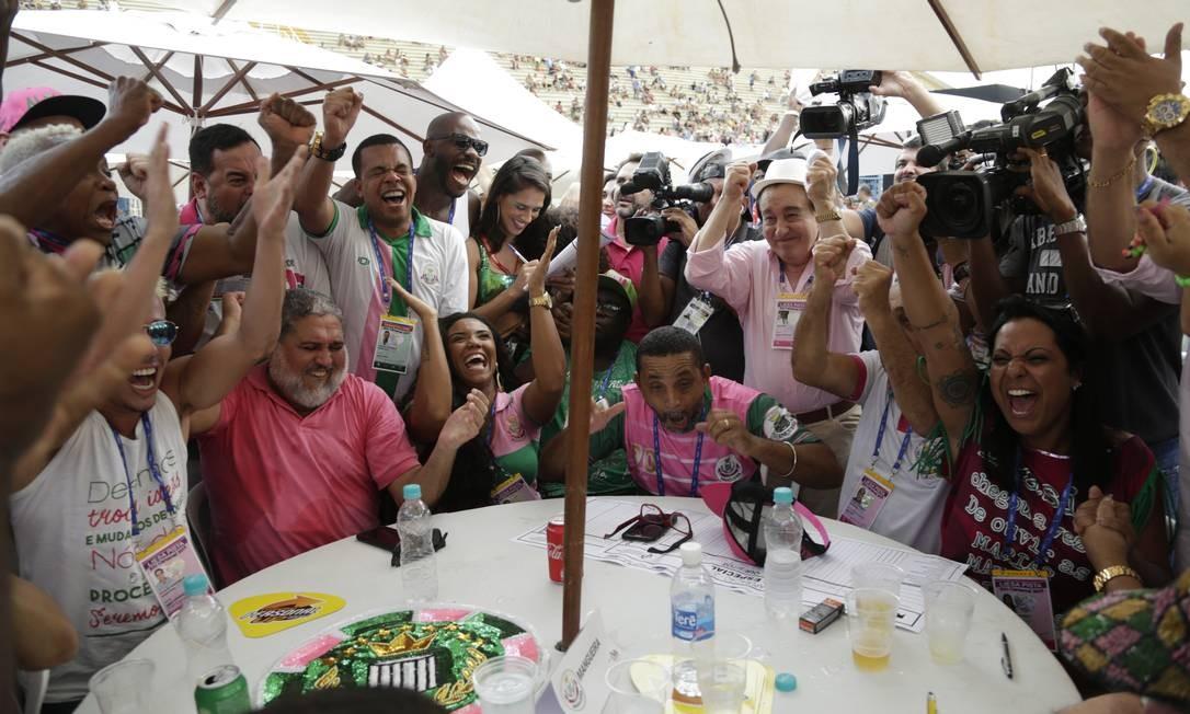 Apuração do desfile das Escolas de Samba do Grupo Especial no Sambódromo. Foto: Gabriel Paiva / Gabriel Paiva