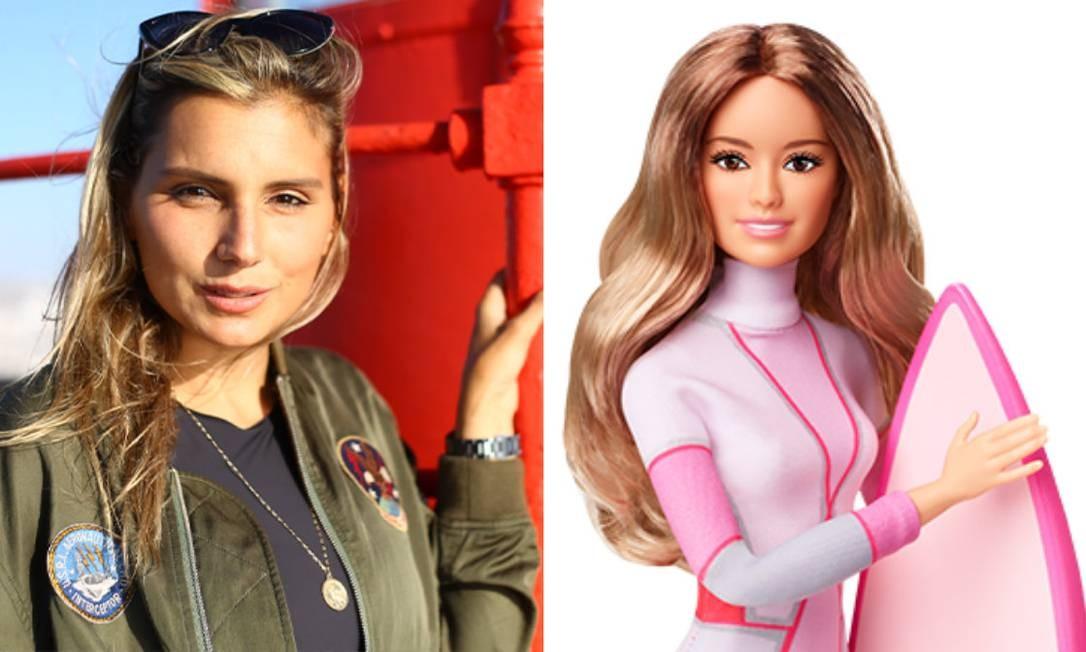 A Barbie completa 60 anos e aproveitou o Dia Internacional da Mulher para criar a coleção Sheroes, em que homenageia mulheres empoderadas e que servem de modelo para novas gerações. Entre elas, está a surfista brasileira Maya Gabeira Foto: Divulgação /Barbie