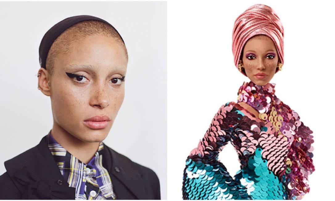 A modelo britânica Adwoa Aboah, fundadora da Gurls Talk, uma comunidade online que dá espaço para meninas discutirem educação, saúde mental e relacionamentos Foto: Divulgação /Barbie