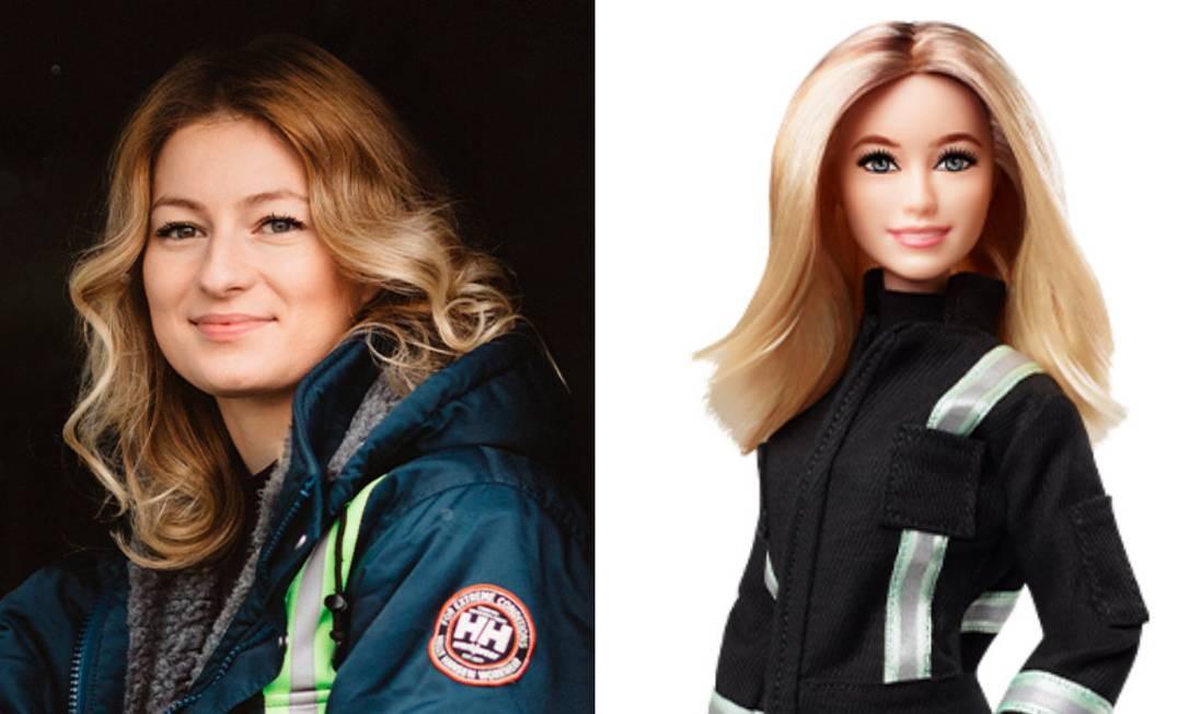 A ex-professora e ex-estilista grega Iwona Blecharczyk, atualmente motorista de caminhão Foto: Divulgação /Barbie