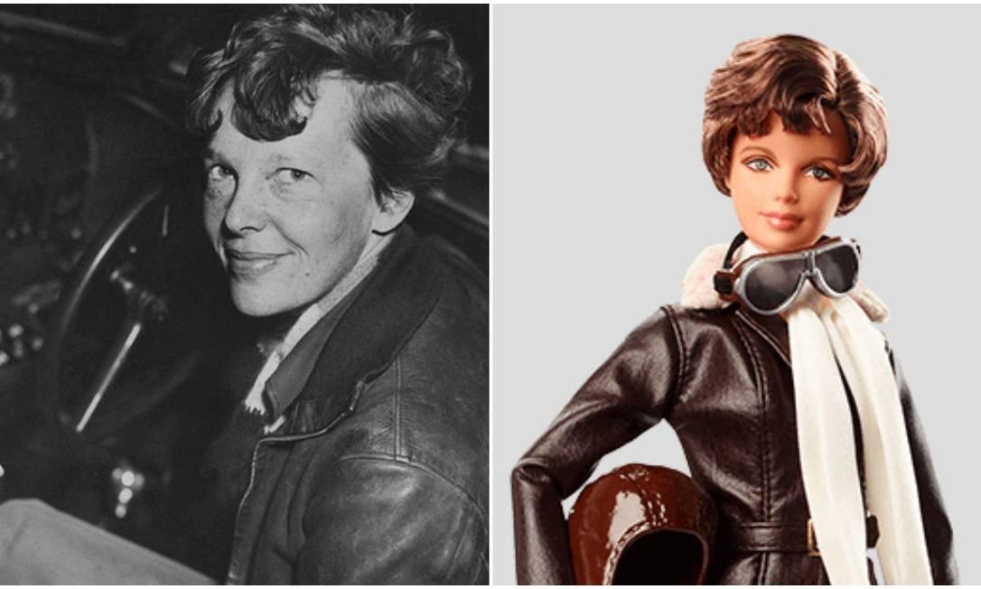 A pioneira aviadora americana Amelia Earhart, morta em 1939 Foto: Divulgação /Barbie