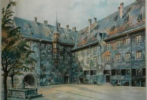 Vista da prefeitura em Munique, atribuída a Hitler, foi vendida pela Casa de Weidler em 2014 Foto: Reprodução
