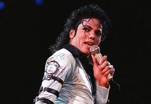 Michael Jackson durante apresentação em outubro de 1988 em Landover, no estado americano de Maryland Foto: LUKE FRAZZA / AFP