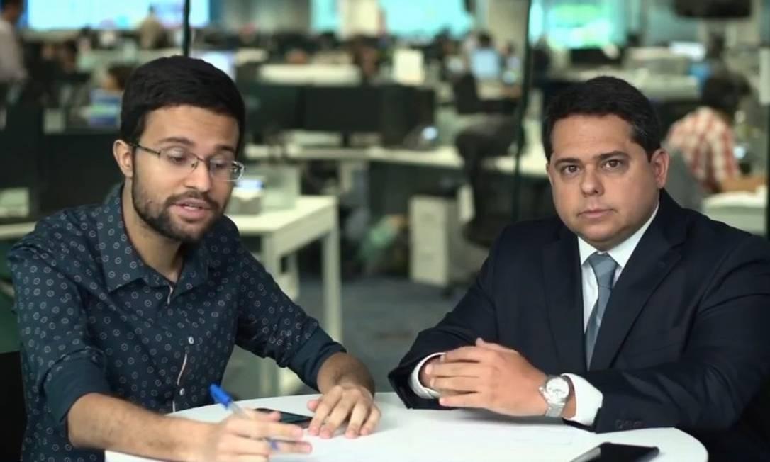 Antônio Gil, sócio de impostos da EY, e o repórter Gabriel Martins Foto: Reprodução Facebook