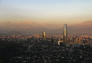 Santiago, capital chilena e sede da COP-25 Foto: Eduardo Maia / O Globo