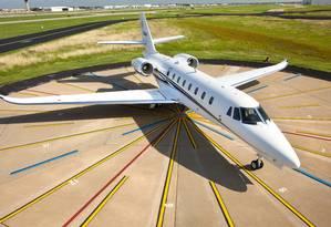 Jatinho: o Cessna Citation Sovereign. Faturas em viagens podem chegar a milhares de dólares Foto: Cessna / Divulgação