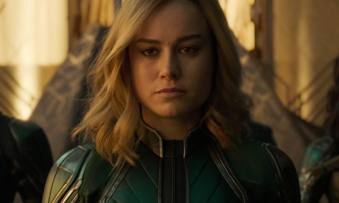 """Carol Danvers (Brie Larson) em """"Capitã Marvel"""" Foto: Divulgação"""