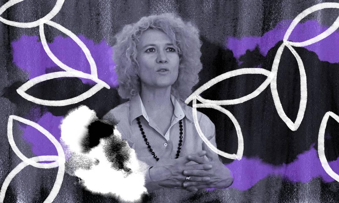 A filósofa Gisèle Szczyglak Foto: Arte de Lari Arantes