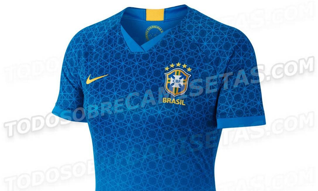 aa40333f8 Imagem de suposta camisa da seleção brasileira feminina foi divulgada na  web Foto  Reprodução