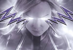 Capitã Marvel, protagonizado por Brie Larson, é o primeira filme do estúdio com uma super-heroína Foto: Arte de Lari Arantes/Foto:divulgação