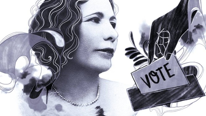Resultado de imagem para professora Celina Guimarães Viana primeira voto