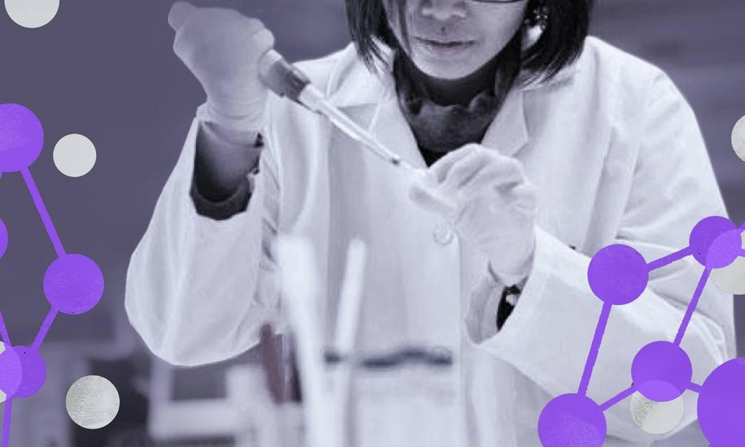 De acordo com a ONU, as mulheres, de todas as idades, estão sub-representadas nas áreas de ciências, tecnologia, engenharia, matemática e desenho industrial Foto: Arte de Lari Arantes