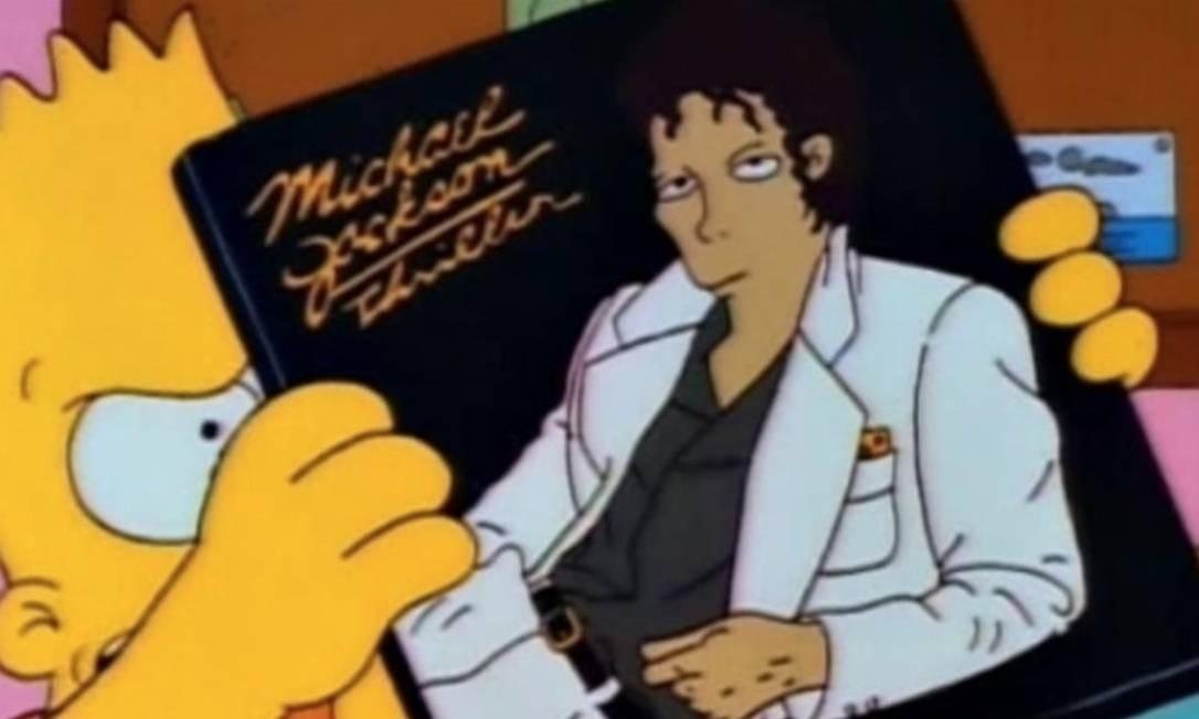 Disco 'Thriller', o mais popular de Michael Jackson, é retratado em episódio de 'Os Simpsons' Foto: Reprodução