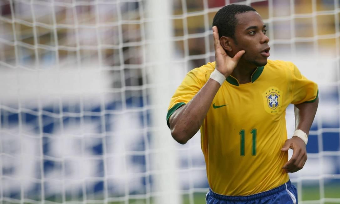 ROBINHO - O atacante foi artilheiro da edição da Copa América em 2007, com 6 gols Foto: Jorge William / Agência O Globo