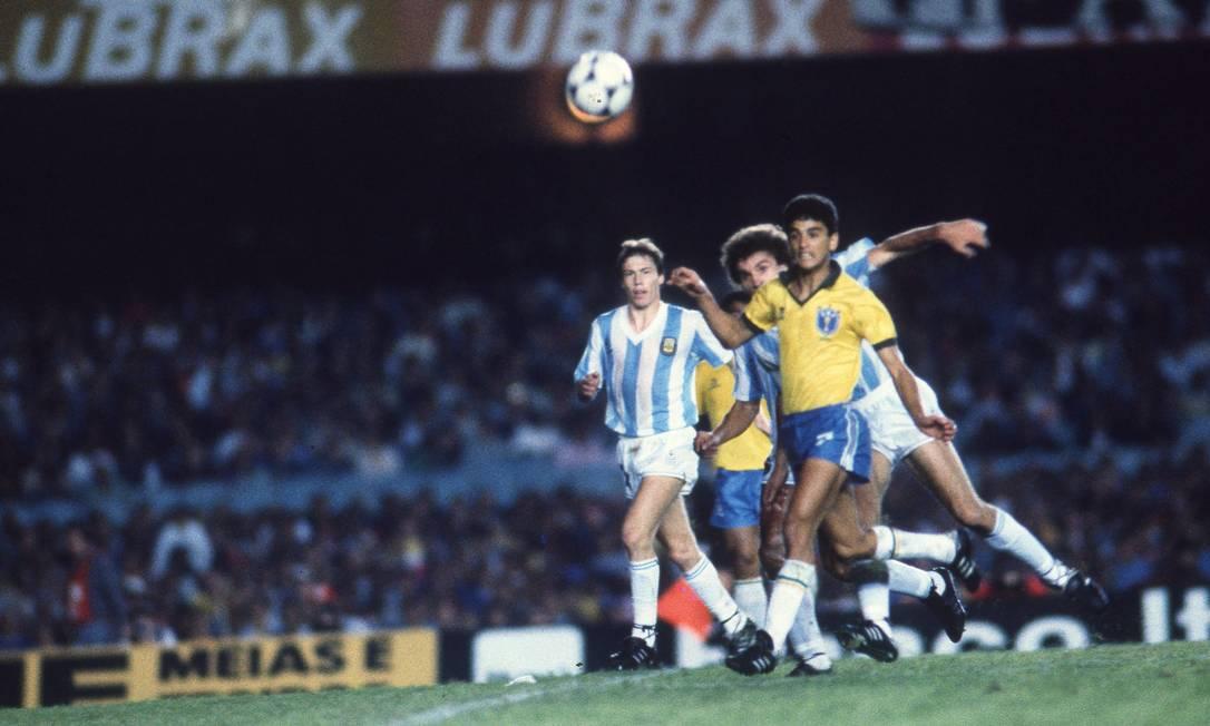 BEBETO - No quarto título de Copa América da seleção brasileira, foi o maior goleador do campeonato de 1989 Foto: Eurico Dantas / Agência O Globo