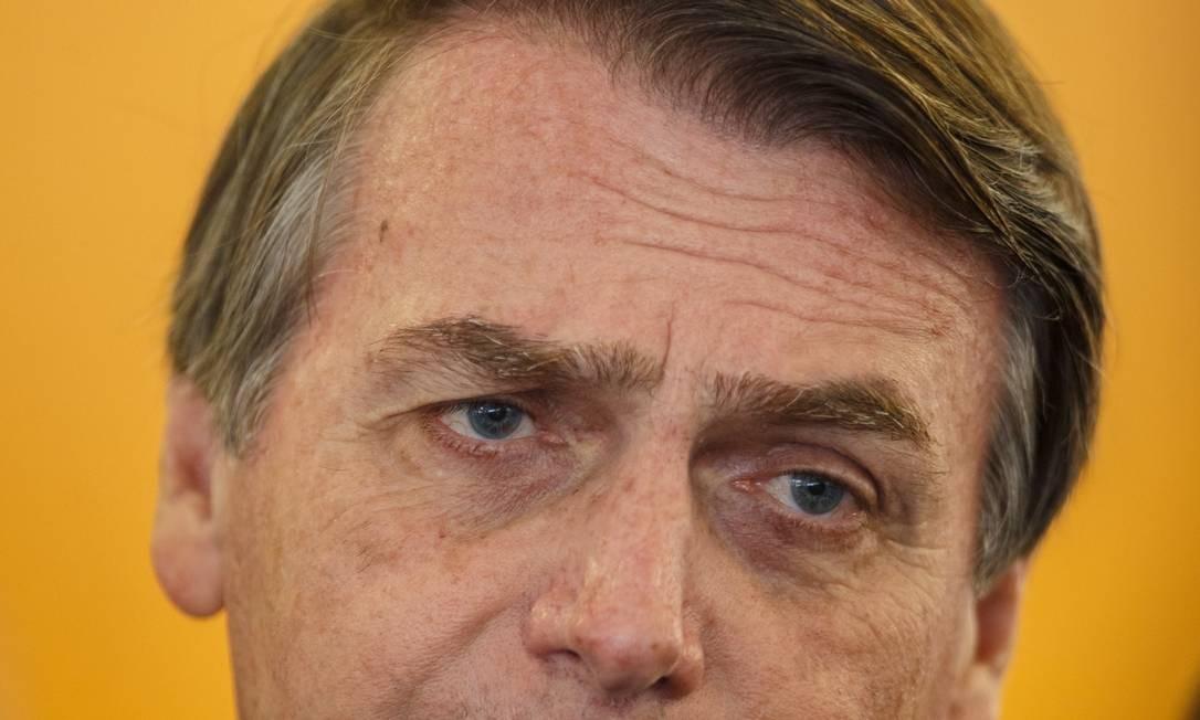 O presidente Jair Bolsonaro avalia que questões relacionadas a assédio moral e sexual, além de diversidade, devem ser tratadas na área da educação Foto: Daniel Marenco / Agência O Globo