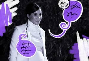 Meghan Markle afirma: 'sou mulher e feminista' Foto: Reprodução/ Ilustração Clara Brandão / Reprodução