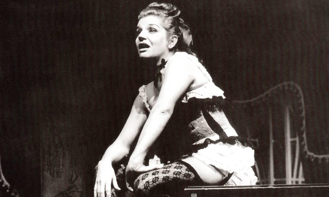 """Acervo. Tônia Cerrero em cena de """"A dama do Maxim's"""", papel interpretado na década de 1960 Foto: Divulgação"""