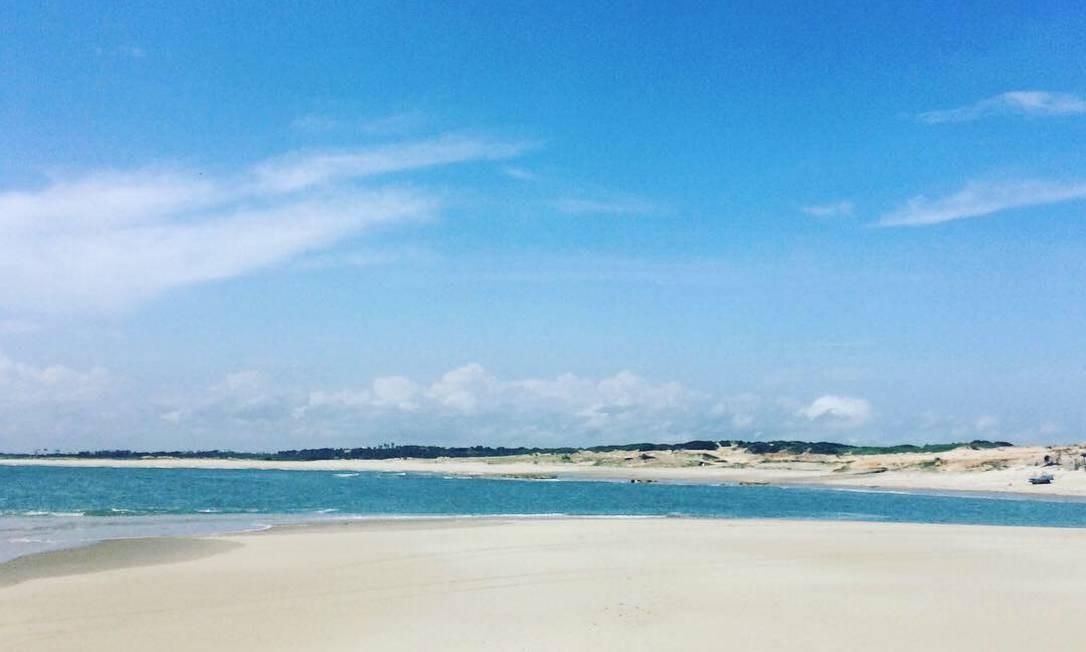 Praia de Canoa Quebrada, no Ceará Foto: Carolina Mazzi