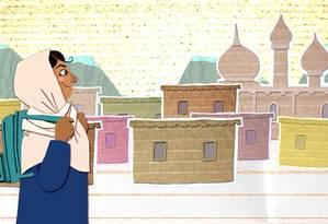 Cena da animação produzida para o episódio de estreia, que conta a história de Malala Foto: Divulgação