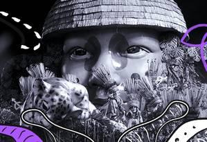 A Mangueira foi campeão do carnaval carioca contando as histórias de personagens