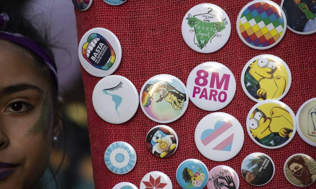 As argentinas já haviam tomado as ruas do país em 2018, com o movimento pela legalização do aborto — que foi rejeitado pelos políticos —, e pelo movimento Ni Una A Menos, de 2015 Foto: Matías Baglietto / NurPhoto via Getty Images