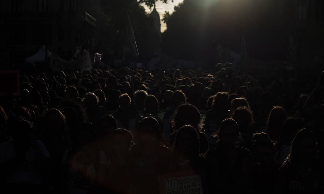 Na sexta-feira, o presidente Mauricio Macri aprovou a lei de igualdade para a política argentina, valendo para as eleições de outubro. A partir de agora, 50% das cadeiras do Congresso deverão ser ocupadas por mulheres Foto: Matías Baglietto / NurPhoto via Getty Images