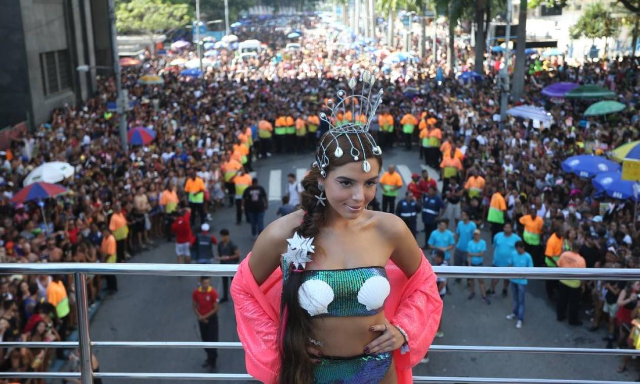 A atriz Giovanna Lancellotti é uma ds convidadas no Bloco das Poderosas Foto: Pedro Teixeira / Agência O Globo