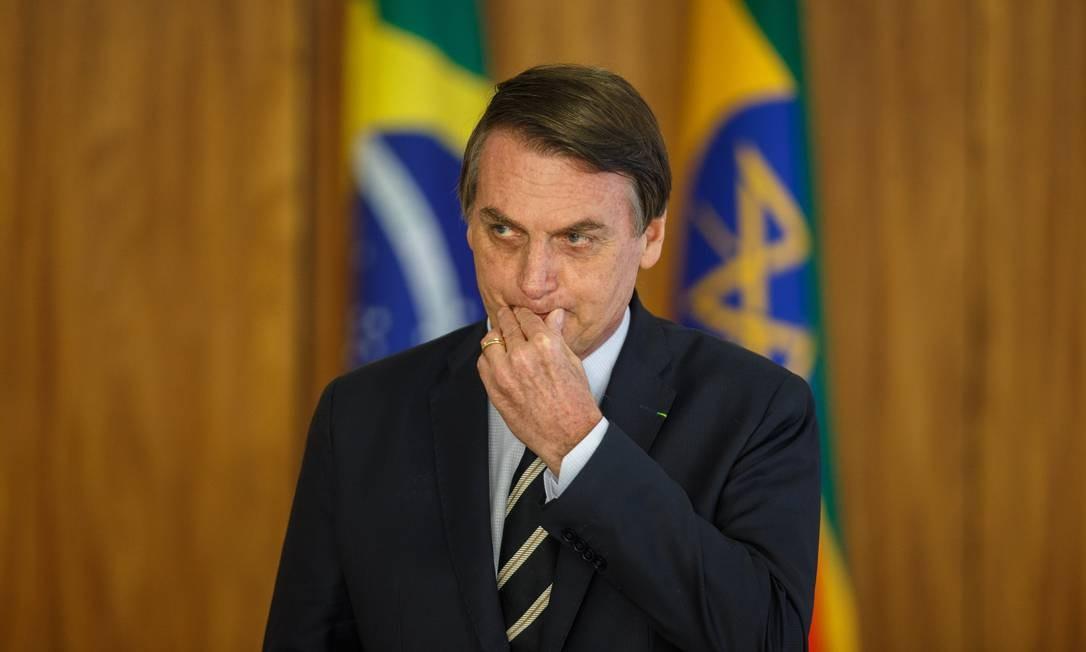 Das últimas cem postagens do presidente — até anteontem —, apenas dez versavam sobre a reforma Foto: Daniel Marenco / Agência O Globo