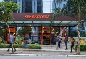 Novo modelo. A bandeira Express, que conta com 120 unidades, a maior parte no estado de São Paulo, é a aposta do Carrefour para aproveitar aumento da demanda de consumidores por lojas menores Foto: Edilson Dantas / Edilson Dantas