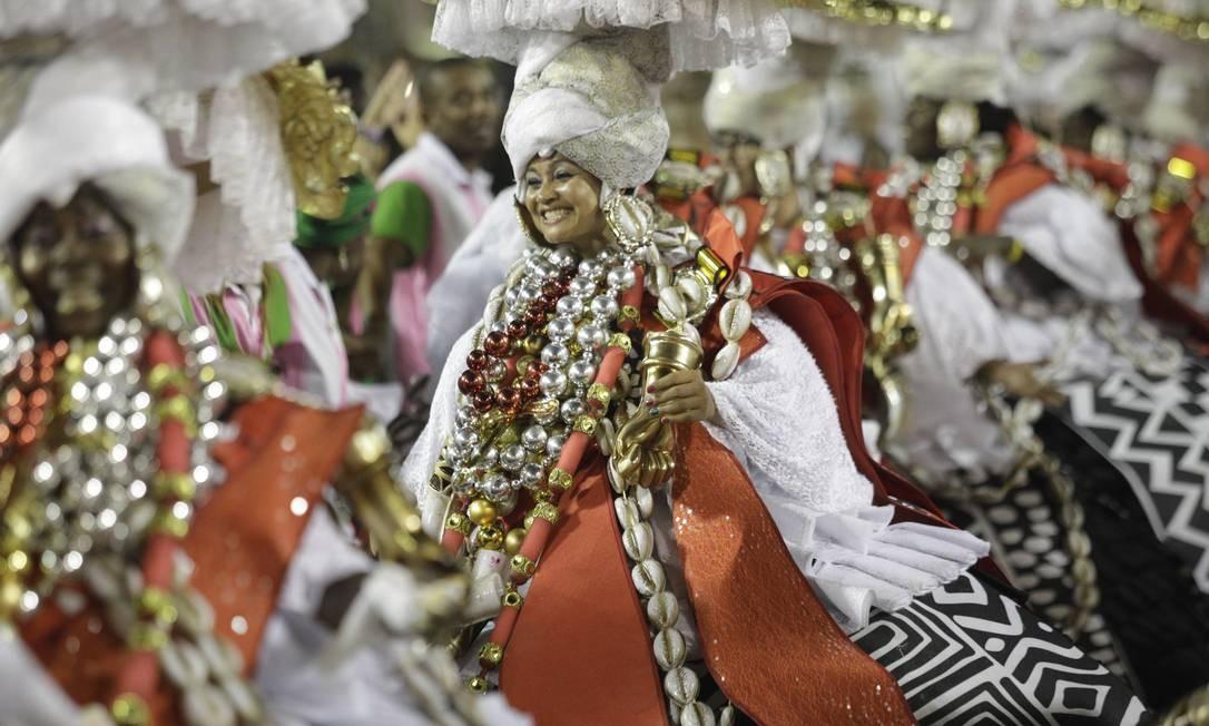 Baianas da Mangueira Foto: GABRIEL MONTEIRO / Agência O Globo