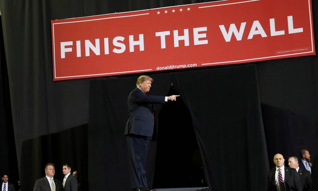 Presidente Trump em discurso no Texas Foto: Leah Millis / REUTERS