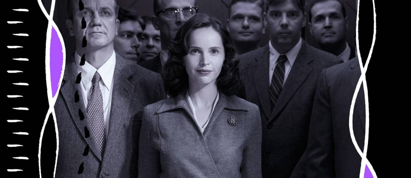 """A atriz Felicity Jones em cena do filme """"Suprema"""", sobre a juíza Ruth Bader Ginsburg Foto: Divulgação"""