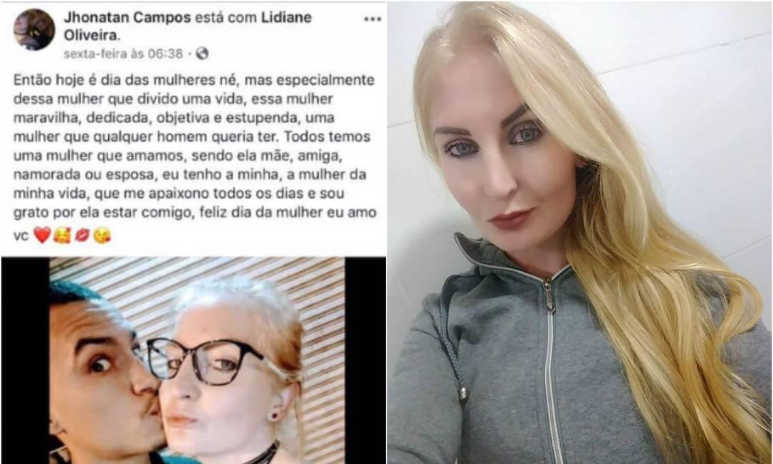 Lidiane Oliveira foi morta a facadas pelo namorado, em Ponta Grossa, no Paraná Foto: Facebook/Reprodução