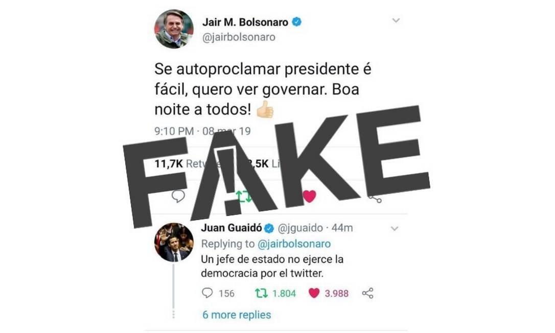 Print mostra publicações falsas dos dois políticos Foto: Reprodução/Redes Sociais