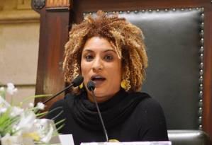 Marielle Franco discursa na Câmara de Vereadores Foto: Rafaela Cassiano