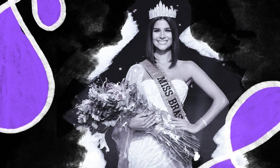 Julia Horta, 24, foi escolhida a nova Miss Brasil Foto: Arte de Lari Arantes sobre foto divulgação