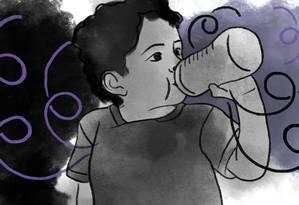 Estudo britânico repercutiu mal nas redes ao afirmar que as mães que trabalham fora são as responsáveis pela obesidade dos filhos Foto: Arte de Lari Arantes