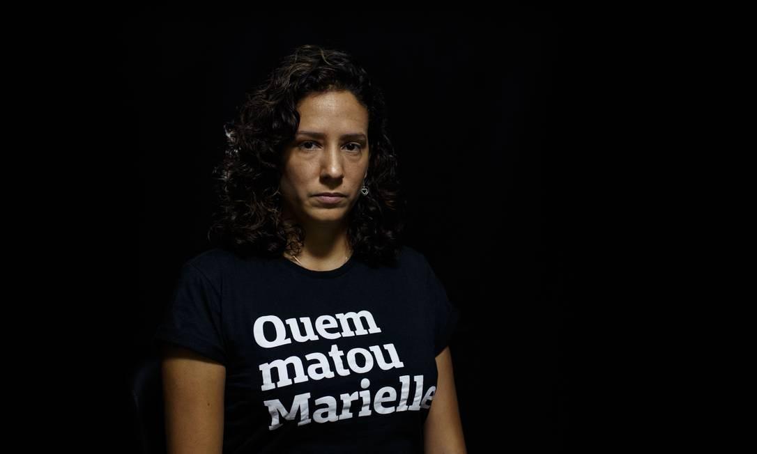 Mônica Benício, viúva da vereadora assassinada, diz não ter dúvida de que a morte de Marielle teve motivação política Foto: Daniel Marenco / Agência O Globo