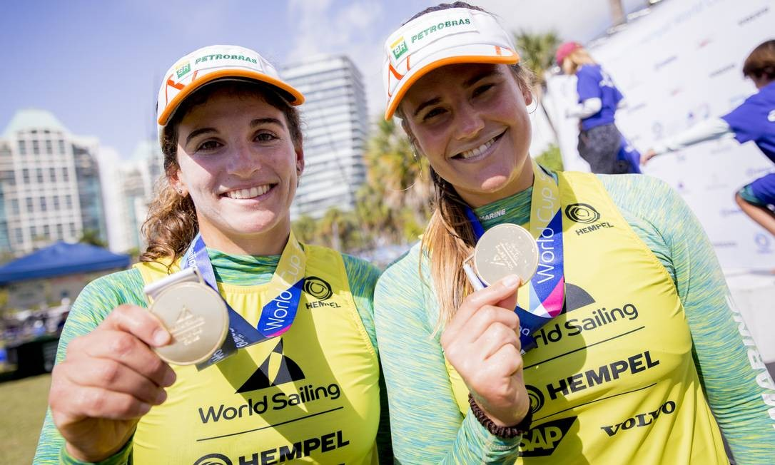 Martine Grael e Kahena Kunze, a dupla dourada da classe 49erFX, ficou em quarto no Mundial na Dinamarca, ano passado, venceu a Copa do Mundo de Miami Foto: Sailing Energy / Divulgação