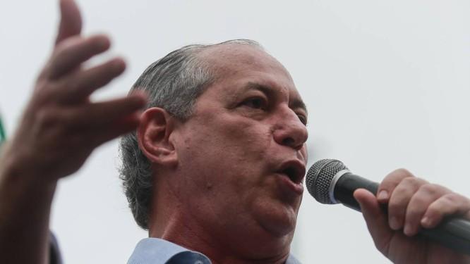 O pedetista Ciro Gomes Foto: Brenno Carvalho / Agência O Globo