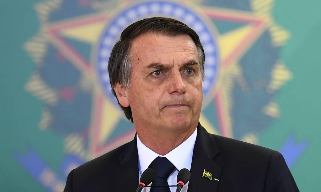 Bolsonaro: presidente deve escolher o novo embaixador em Washington Foto: EVARISTO SA / AFP