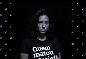 """Monica Benício, viúva de Marielle Franco diz que sente saudades, e não raiva: """"É um projeto de justiça, e não de vingança"""". Foto: Arte de Lari Arantes"""