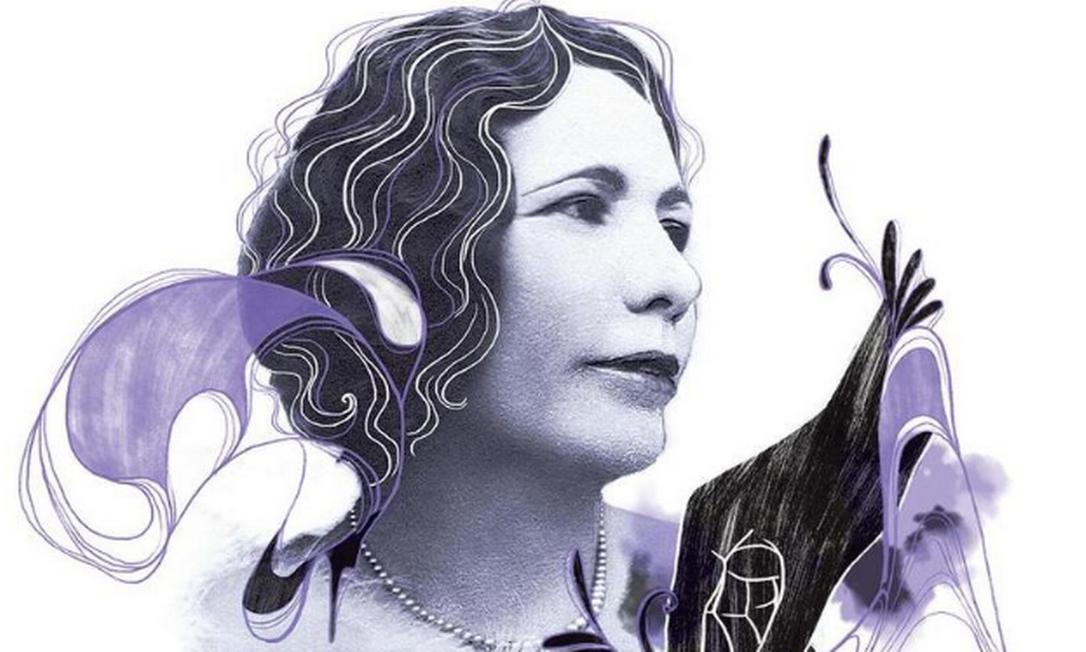 Pioneira: Celina Guimarães Viana, a primeira brasileira a votar Foto: Arte de Lari Arantes