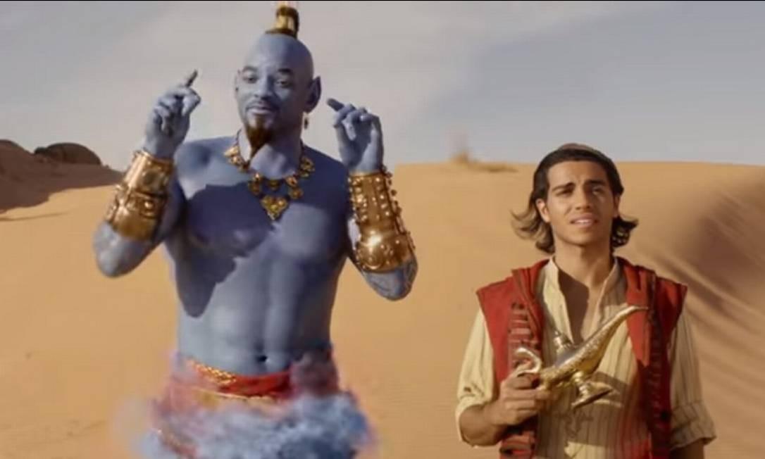 Resultado de imagem para Mena Massoud e Will Smith em cena de 'Aladdin'