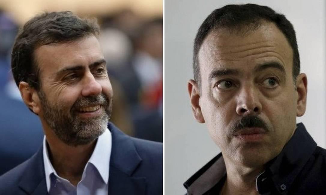 O deputado estadual Marcelo Freixo e o general Richard Nunes, ex-secretário de Segurança Foto: Agência O Globo