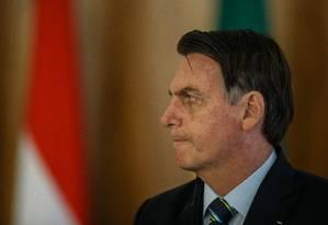 Bolsonaro não deve falar sobre tiroteio na escola Foto: Daniel Marenco / Agência O Globo