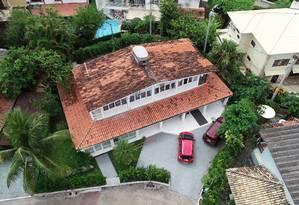 Casa de Ronnie Lessa, sargento da PM reformado, suspeito de ter atirado na vereadora, na Barra da Tjuca. Foto no condomínio Vivendas da Barra. Foto: Renee Rocha / Agência O Globo